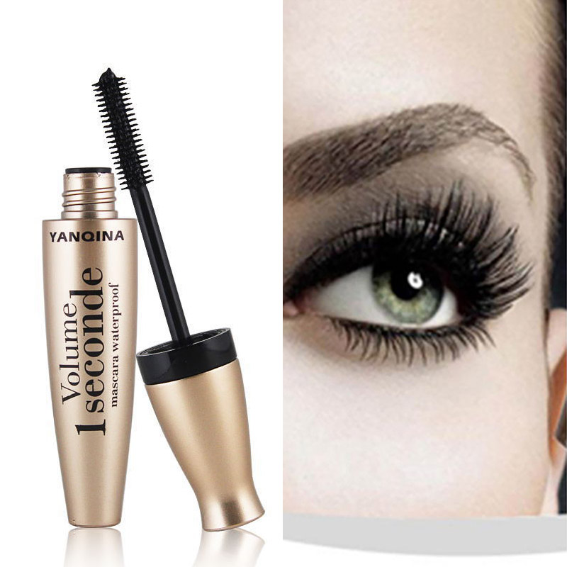 4d Mascara Waterproof Long Lasting Fiber Mascara, Natural Soft Long Lashes Cosmetic, Black Mascara