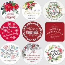 Stickers Custom-Labels Christmas-Decoration 100PCS Navidad Noel Classic