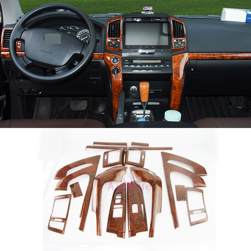 For Toyota Land Cruiser 200 2008 2009 2010 2011 2012 2013 2014 2015 Wooden Color Trim