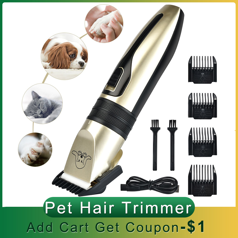 USB Electric Pet Hair Clipper Remover Professional Pet Cat Hair Trimmer Cutter Grooming Pets Haircut Machine 1