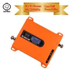 ZQTMAX 3g regenerator sygnału + wzmacniacz gsm dwuzakresowy GSM 900 + WCDMA UMTS 2100 wzmacniacz mobilny