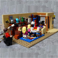 21302 New Classic TV Series American Drama Friends BigS Bang Theory Cafe Model Building Block Bricks legoinglys Toy Gift Kids