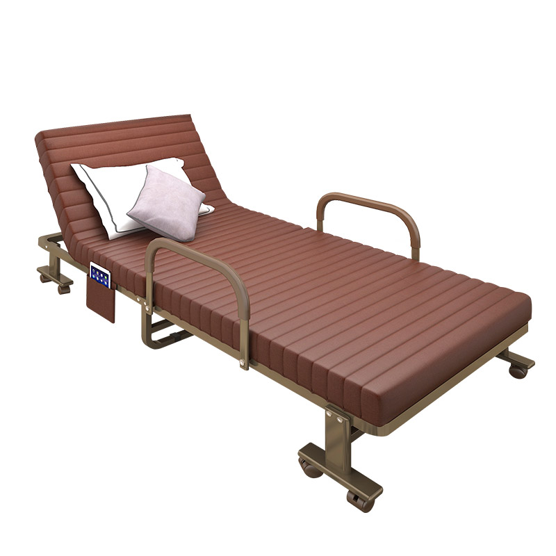 Folding Bed Single Siesta Bed Double Escort Marching Office Siesta Lounge Chair Simple Household 1.2 Meters Portable