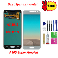 Super AMOLED High Quality For SAMSUNG Galaxy A3 2015 A300 A300F A300H A300X A300M LCD Touch Display Screen Digitizer free tool