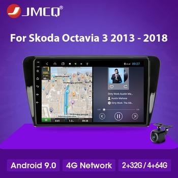 цена на JMCQ Android 2 din Car Radio Multimedia Video Player Navigation GPS For Skoda Octavia 3 A7 2014-2018 RDS DSP 4G net 4G+64G