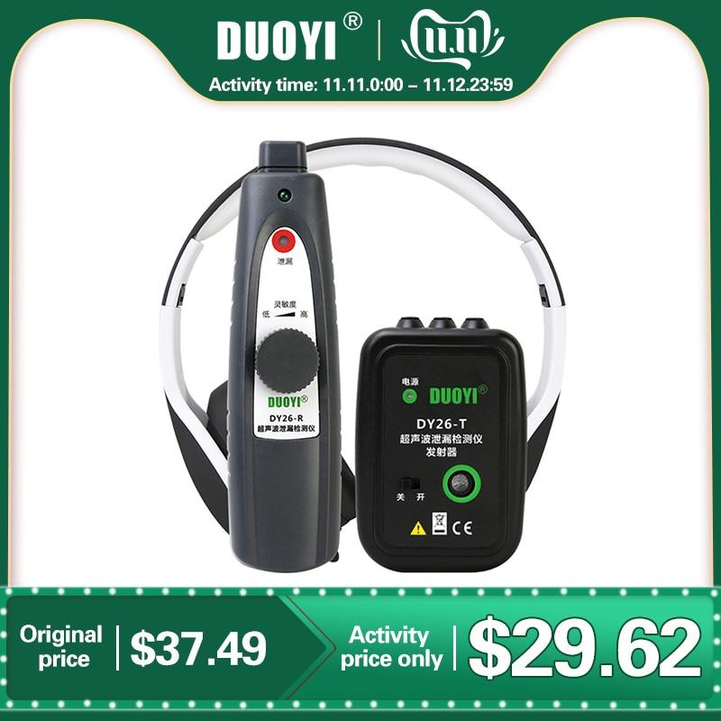 DUOYI DY26 Mini Ultrasonic Flaw Detectors Gas Handheld Portable Vacuum Sealing Leakage Tester Location Determine Leak Tester