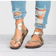 Women Sandals Rome Style Summer Sandals Flip Flops Plus Size 35-44 Flat Beach Sandals Zapatos Mujer Casual Ladies Open Toe Shoes gdgydh 2020 summer sandals woman flip flops beach sandals casual fashion female shoes flat heels lacing shoes plus size 35 40