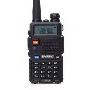 Image 5 - 2 adet Baofeng walkie talkie uv 5r dual band iki yönlü telsiz VHF/UHF 136 174MHz & 400  520MHz FM taşınabilir telsiz kulaklık ile