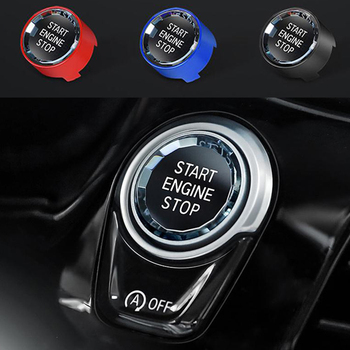Car Engine Start Stop Switch Button Stickers For BMW G01 G02 G32 G30 G38 G08 G11 G12 X1 X3 X5 X6 F15 F16 F48 F25 2017 2018 2019 image