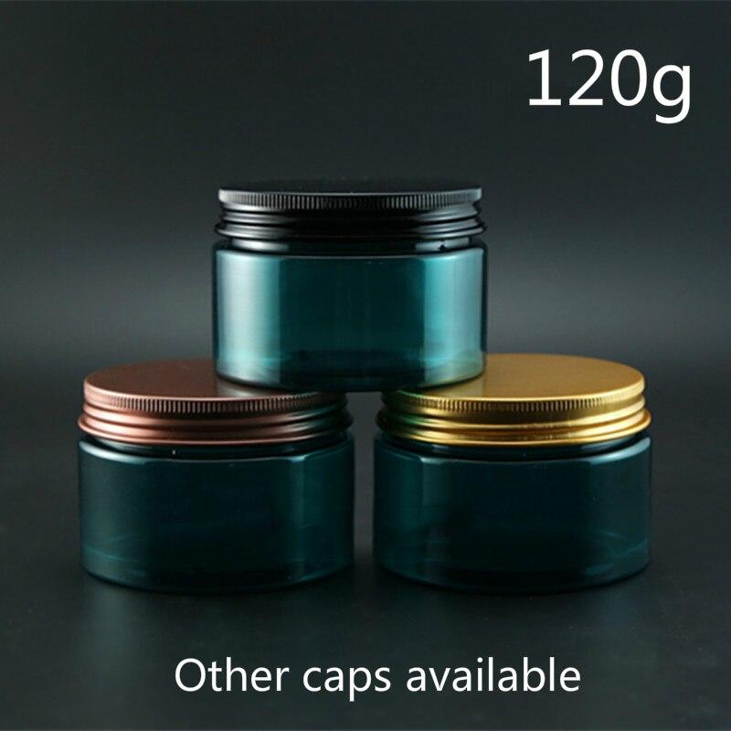 120 г пластиковый многоразовый контейнер, зеленый пластиковый косметический крем для ухода за кожей, бутылочный лосьон для тела, маска для по...