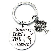 TAFREE Gift For The Teacher Day Keychain The Best Teacher Present Cut Car Key Chain Ring Holder For Men And Women Jewelry(China)