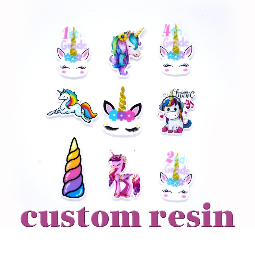 Free Shipping 30 Pcs Cartoon Custom Planar Resin Character Planar Resin
