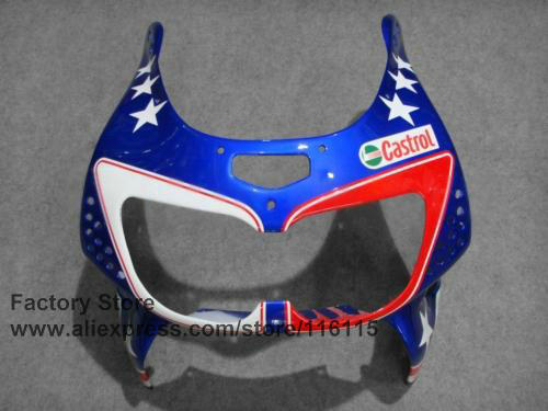 Replace fairing kit for HONDA 1996 1997 CBR900RR 893 CBR 893RR 96 97 fireblade blue stars Replace CBR 893 fairings