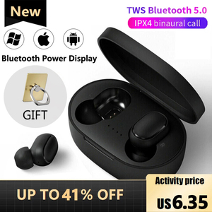 A6S TWS Wireless Bluetooth Headset IPX4 Waterproof Music Earphone With Microphone Suitable For Xiaomi Huawei Apple Smart Phones