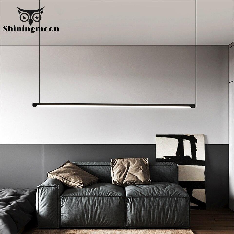 Minimalism Nordic Lamp Pendant Lights Modern Line LED Pendant Lamp Loft Dimming Living Room Kitchen Hanglamp Home Decor Lighting