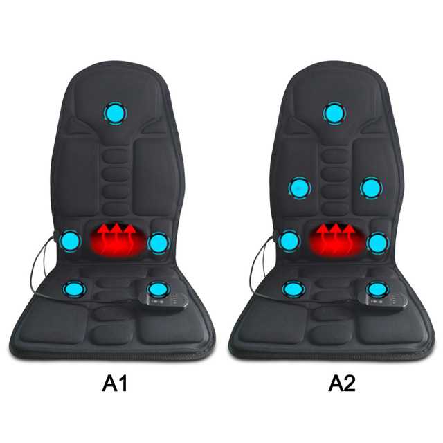 Car Seat, Home and Office Electric Heated Massager Cushion for Back, Lumbar and Neck