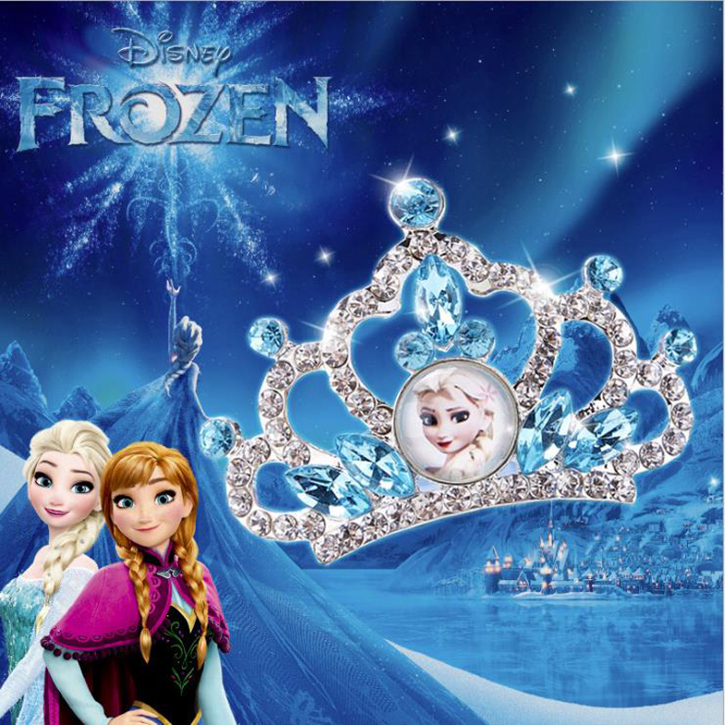 Genuine Disney Princess Frozen Anna Elsa Dress Up Crown Wig Magic Makeup For Cosplay Set Kids Girl Birthday Party Supplies