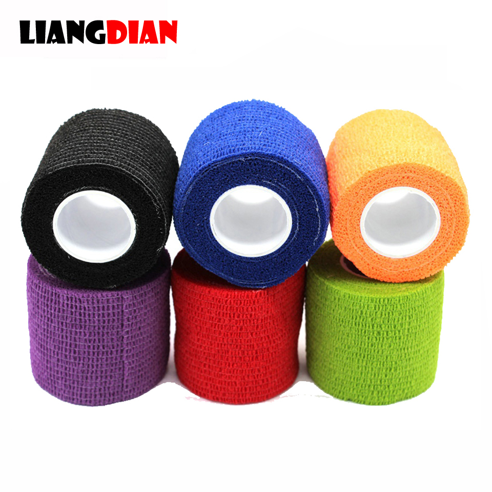 1 Roll 5*450cm Disposable Self-adhesive Flex Elastic Bandage Tattoo Handle Grip Tube Wrap Elbow Stick Medical Tape Accessories
