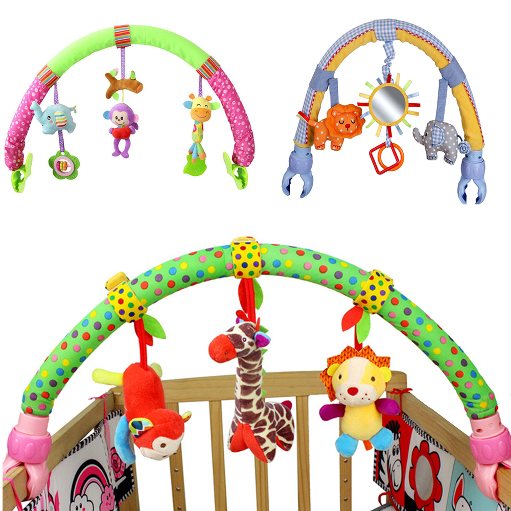 Newborn Rattles Baby Cute Toys Infant Stroller Car Clip Lathe Hanging Seat & Stroller Toy Mobile Educational Toys 0-12 Months