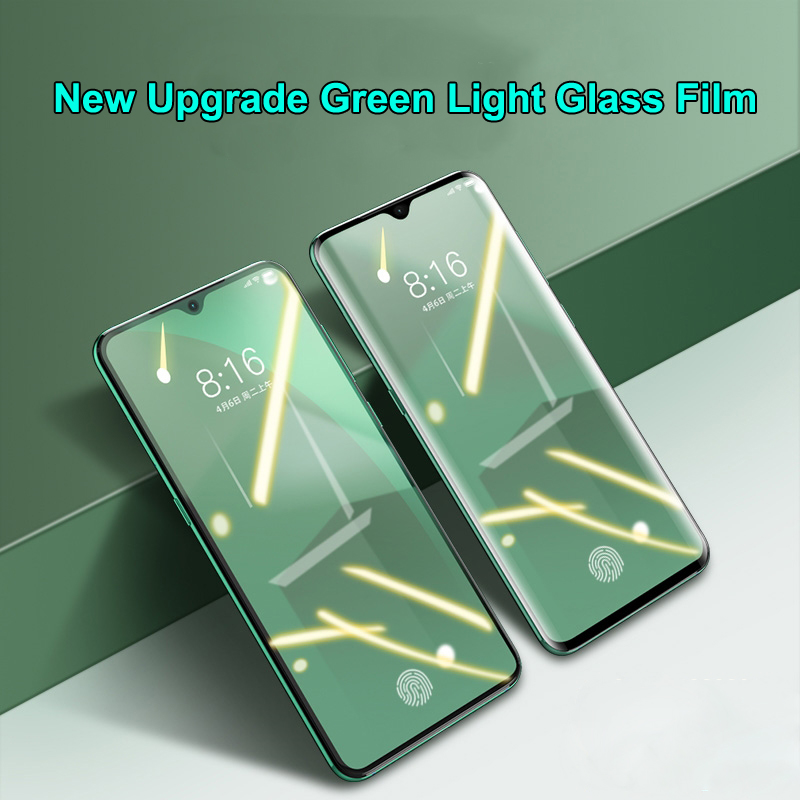 Screen Protector For OPPO Realme 3 Pro X2 XT 2  X Lite Ace Reno 2Z  Z 5 Q New Eye Protection Green Light Tempered Glass Film