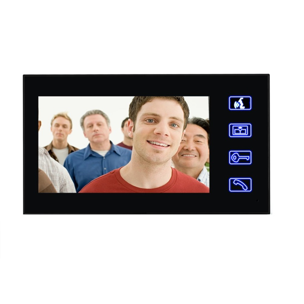 7 pouces filaire sonnette RFID mot de passe vidéo porte téléphone interphone sonnette avec caméra IR HD TV ligne système de télécommande - 2