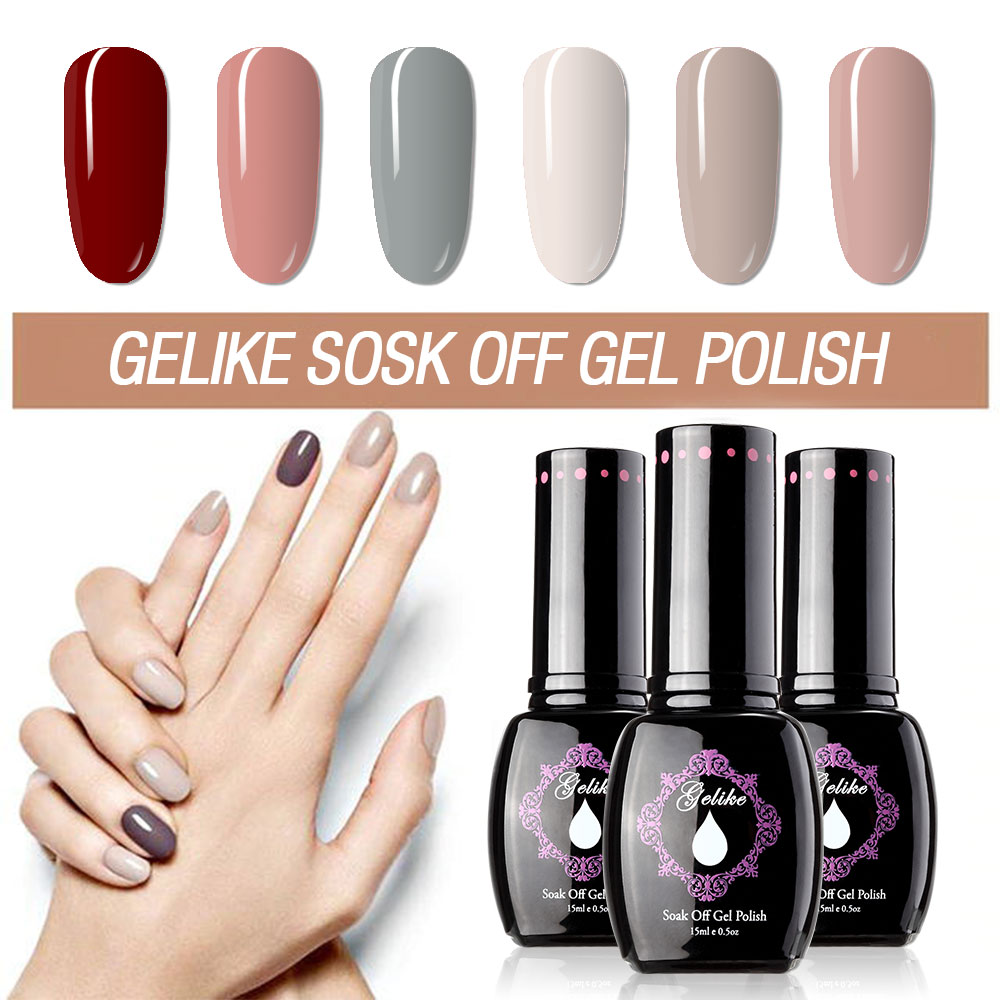 Gelike Extremely UV Gel Nail Polish Lucky 25 Clolors 15ml Soak Off Colorful UV Gel Nail Polish Long Lasting Gel Varnish Nail Art