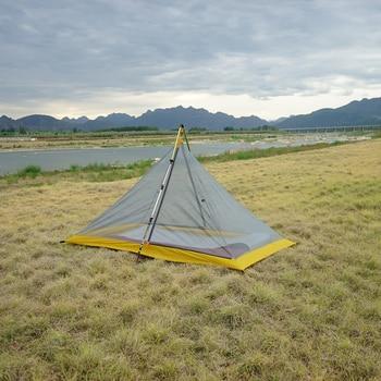цена на 2 Person 40D Silnylon 500g Ultralight Inner Tent Outdoor 3 Season Autumn Camping Tent,Aluminium Alloy 42cm A Shape Extension Rod
