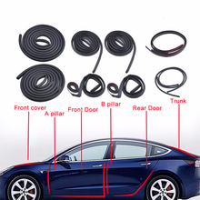 цена на 10Pcs Car Door Seal Strip Kit Soundproof Noise Insulation Weather Strip Sealing For Tesla Model 3 Exterior Accessories