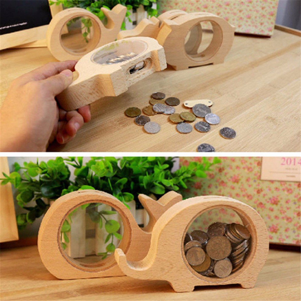Wooden Animals Money Saving Box Best Gifts For Kids Elephant Piggy Banks Coins Bank Transparent Whale Hippo Money Storage Boxes Money Boxes Aliexpress