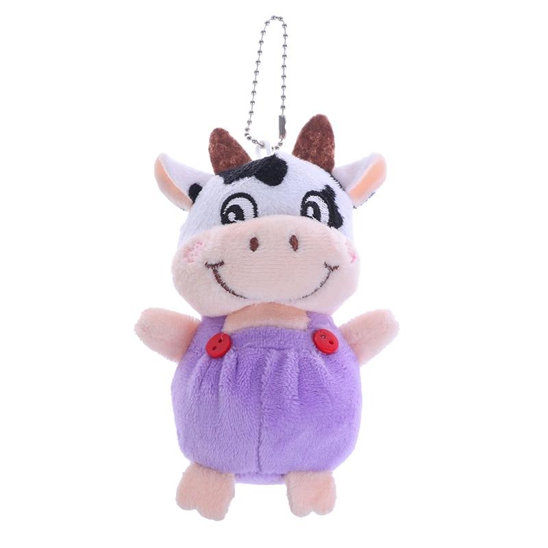 1 Pc New 10cm Little Cow Stuffed Animal Plush Toys , Key chain Plush Dolls , Kid's Plush Toys Chinese New Year-4