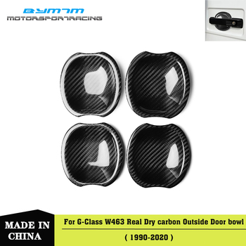 Real Dry carbon fiber Outside door bowl Car accessories For Benz G63 G500 W464 G Class 2019