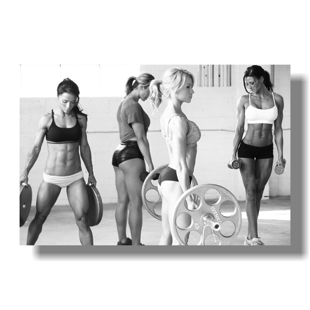 Sexy Women Fitness  Bodybuilding Motivational Art Silk Poster 12x18 24x36inch Fitness Exercise Wall Pictures Gym Room