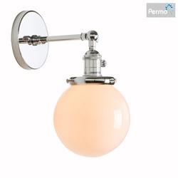 Permo klasyczna ściana lampa kolor biały mleczny szklany kinkiet Loft klasyczna oprawa E27 lampka nocna do sypialni dekoracje świąteczne