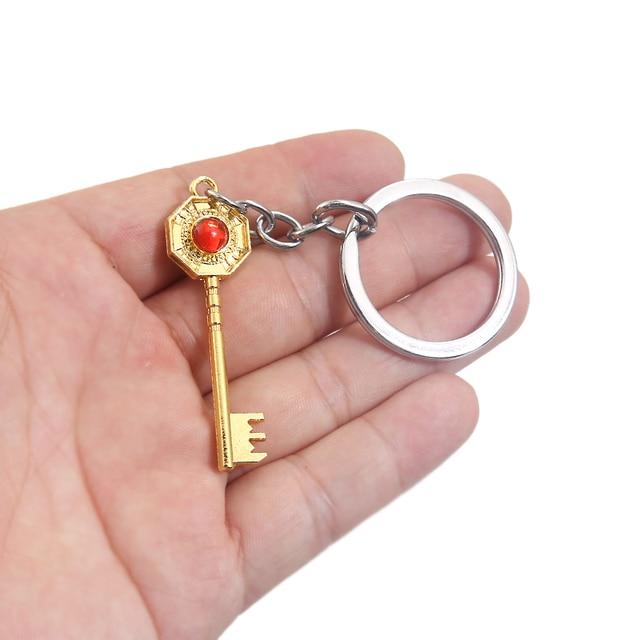 New JoJos Bizarre Adventure Keychain Anime Key Chain Kujo Jotaro Hat Key Ring Holder Pendant Chaveiro Jewelry Souvenir 2