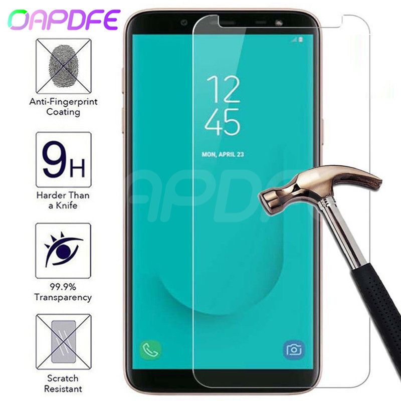 Premium Tempered Glass on For Samsung Galaxy J3 J5 J7 2015 2016 2017 J2 J4 J6 J8 2018 Screen Protector HD Protective Film Case image