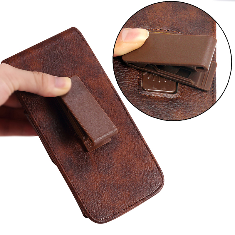 For Google Pixel 4a Case 5.81 Inch Belt Clip Holster Luxury Leather Phone Pouch Bag Case For Huawei P30 Lite New Edition
