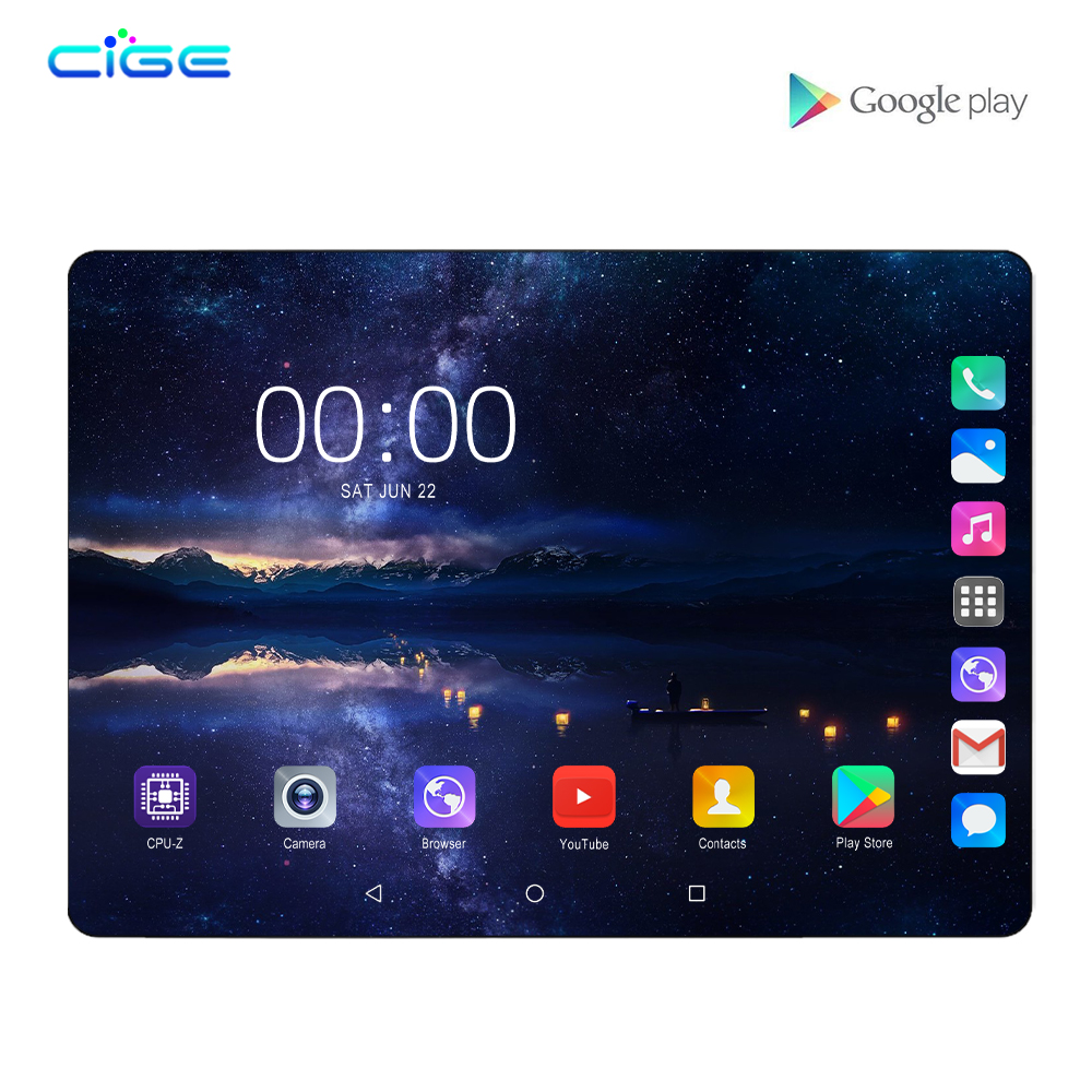 2020 New Google Android 8.0 Smart Tablet Pcs Android Tablet Pc 10.1 Inch Octa Core Tablet Ram 6GB Rom 64GB 1280x800 8MP