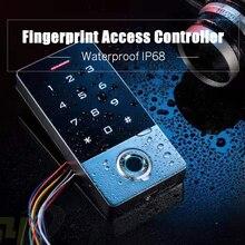 Водонепроницаемый сенсорный экран панель RFID считыватель отпечатков пальцев Сканер пароль открывалка ворот Клавиатура контроля доступа безопасности вход