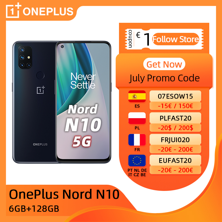Global Version OnePlus Nord N10 5G Cellphone 6GB 128GB Snapdargon 5G 6.49'' 90Hz FHD+ Display Warp Charge 30T NFC Cellphones  - AliExpress