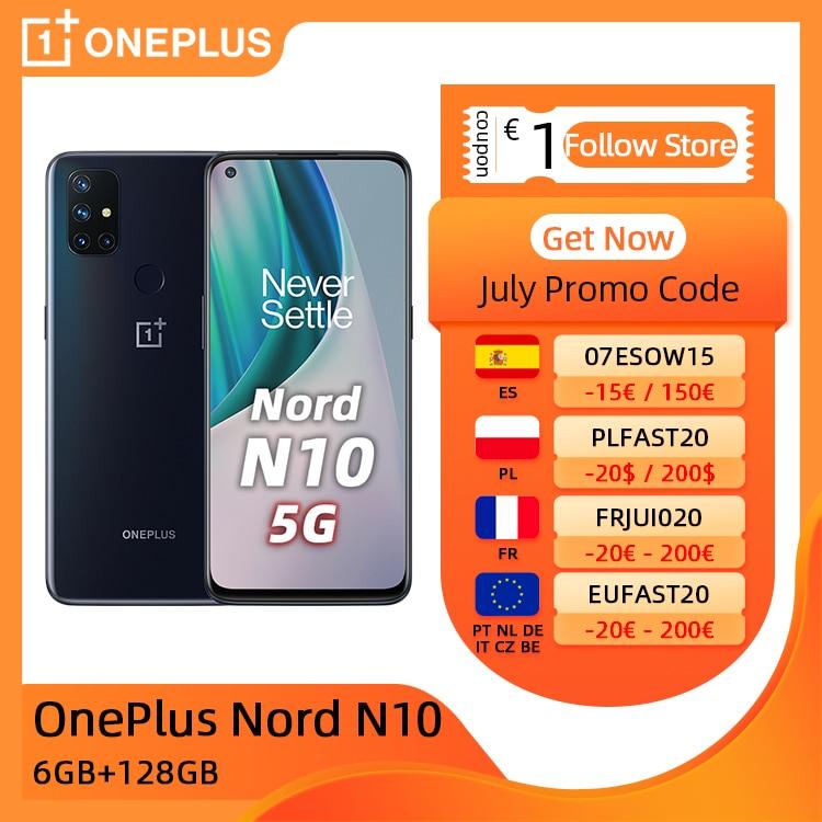 OnePlus Nord N10, Versión global, 6GB 128GB móvil 5G, 6.49'' 90Hz Pantalla, 64MP Quad Camera, Warp Charge 30T NFC €20 Code: onceonce20+€35 Cupón tienda+€28 Seleccionar cupón on 11.11 09:00|Teléfonos móviles| - AliExpress