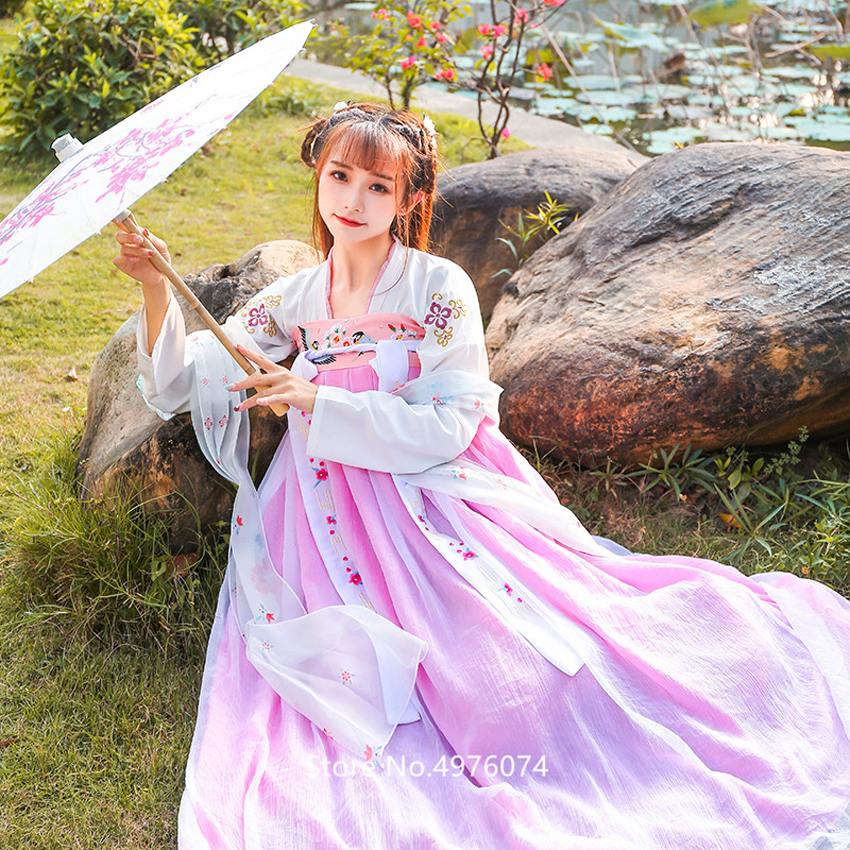 Traditional Chinese Clothing For Women Hanfu Dress Elegant Fairy Cosplay Folk Ancient Costume New Year Party Embroidery Oriental