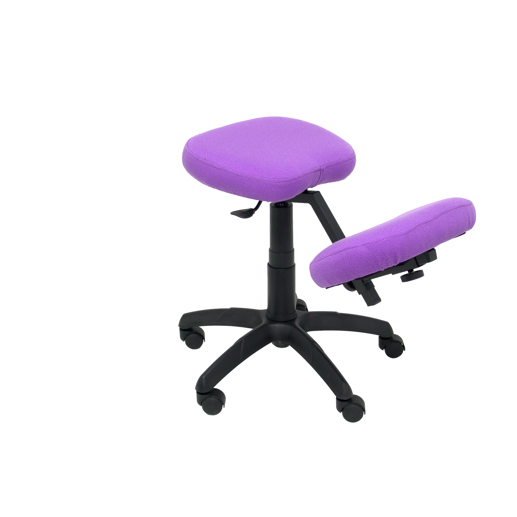 Office's Stool Ergonomic Swivel And Dimmable In High Altitude Up Seat Upholstered In BALI Tissue Color Lilac (KNEE R