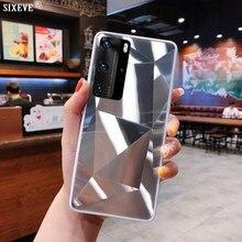 Capa de arte de espelho de diamante exclusivo de luxo para Samsung Galaxy A10 A20 A30 A40 A50 A70 A31 A41 A51 A6 A6 A7 2018 Capa de telefone móvel Pára-choque traseiro Shell Moda Mulher Homem Menina