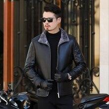 Большой плюс размер 8xl 7xl 6xl Русский стиль зимние мужские меховые пальто Толстые мужские пальто уличная мужская шерсть меховые кожаные куртки