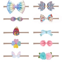 10Pcs Toddler Baby Headband Newborn Girls Flower Bowknot Princess Hairbands Child Kids Headwear Gifts Infant Hair Accessories