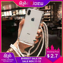 Strap Cord Chain Transparent Phone Case For For