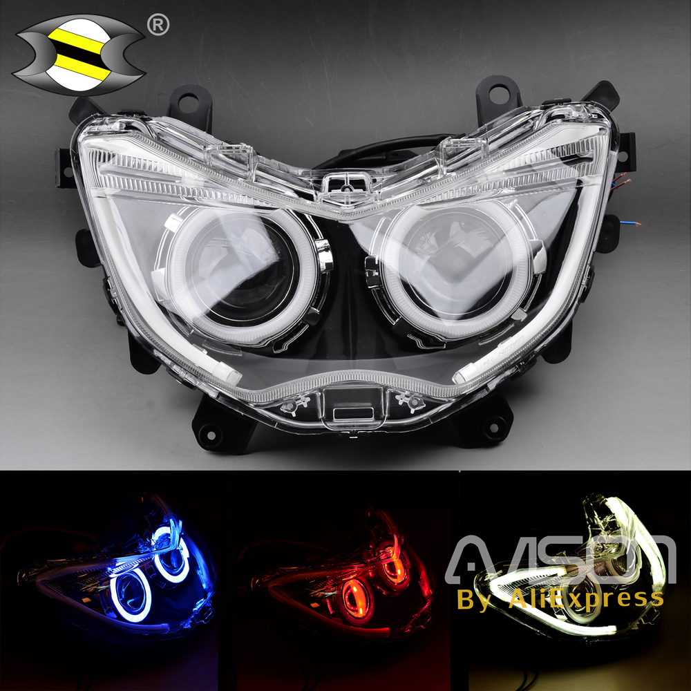For NMAX 155 NMAX155 NMAX125 2016 2017 2018 Modified Motorcycle Parts Headlight HID Head Light LED Headlamp Front Lamps
