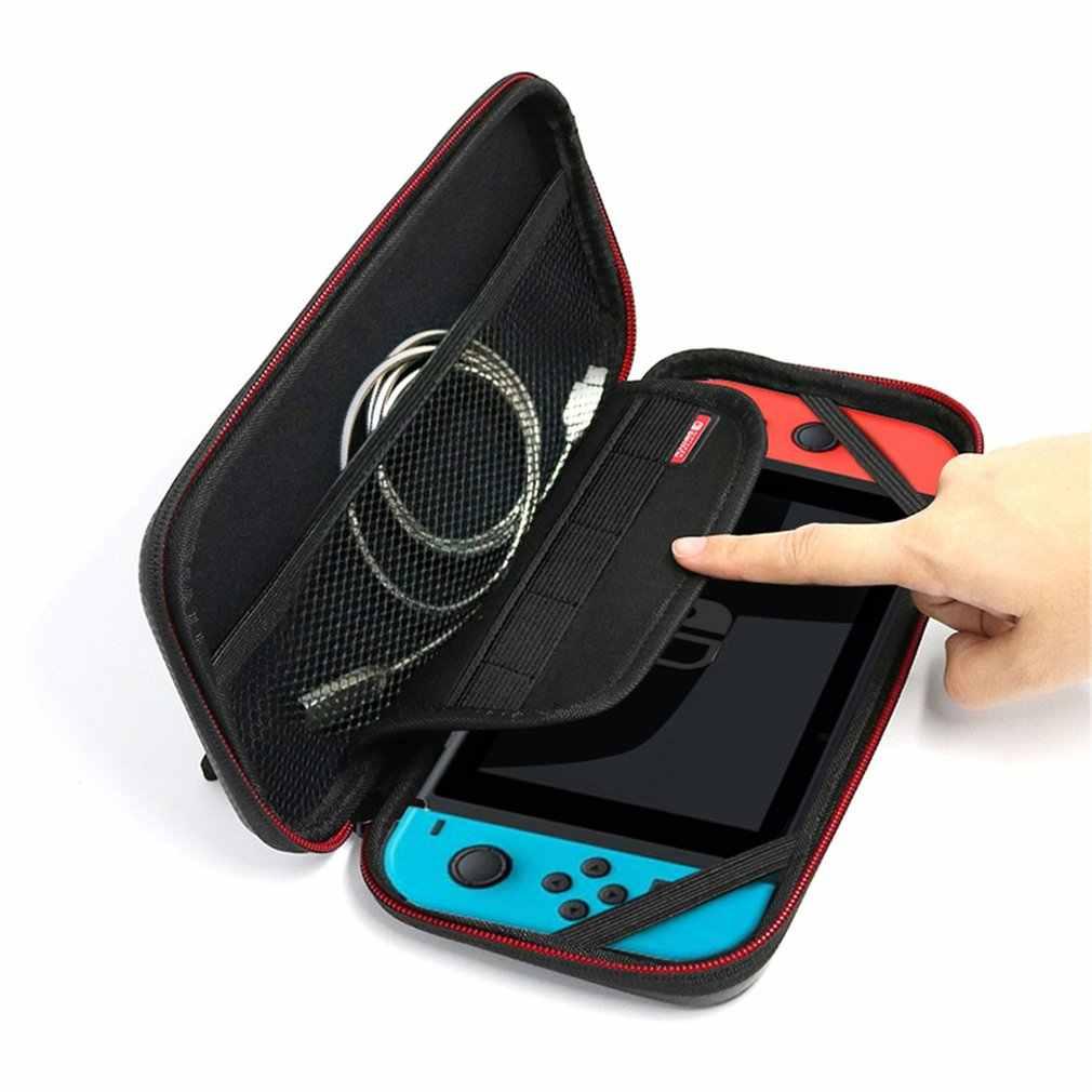 مقاوم للماء بو الجلود المحمولة حمل حقيبة واقية حقيبة صندوق تخزين حقيبة تجميع لنينتندو للتبديل لعبة الحقيبة