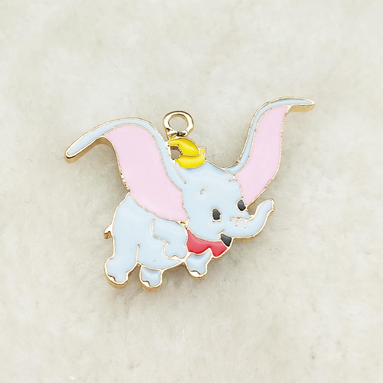 10pcs enamel elephant charm jewelry accessories earring pendant bracelet necklace charms zinc alloy 25x36mm