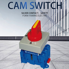 Isolating switch on off 32A 3 phase rotary changeover cam main interruptor disconnect with padlock handle